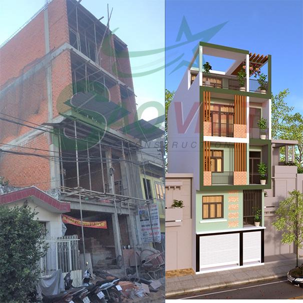 Xây nhà phố tại Hà Đông