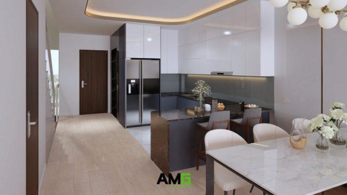Thiết kế nội thất phòng bếp tại Ecorivers Ecopark