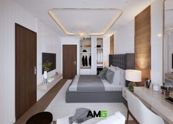 Thiết kế nội thất phòng ngủ phong cách tân cổ điển