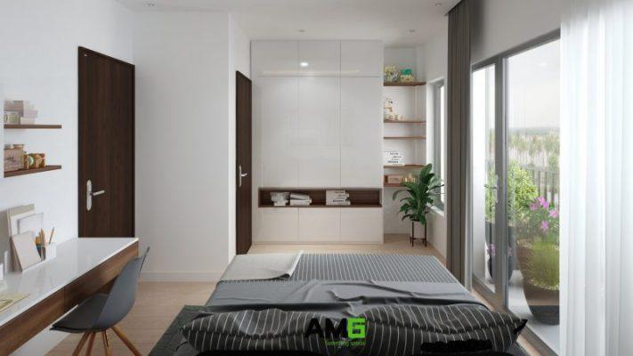 Phòng ngủ biệt thự liền kề Ecorivers Ecopark