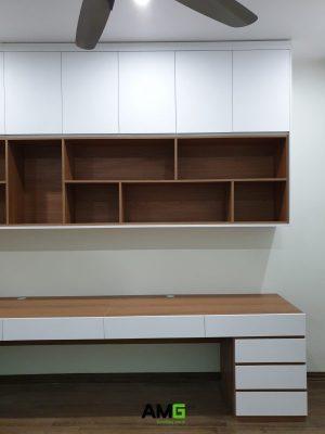 Lắp đặt nội thất tủ treo tường và bàn học