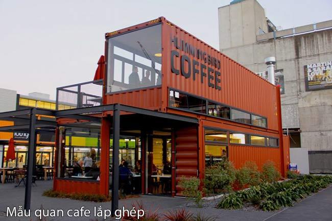 Mẫu quán cafe Lắp ghép