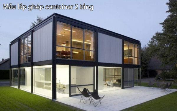 Nhà lắp ghép kiểu container 2 tầng