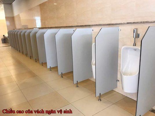 Chiều cao của vách ngăn vệ sinh