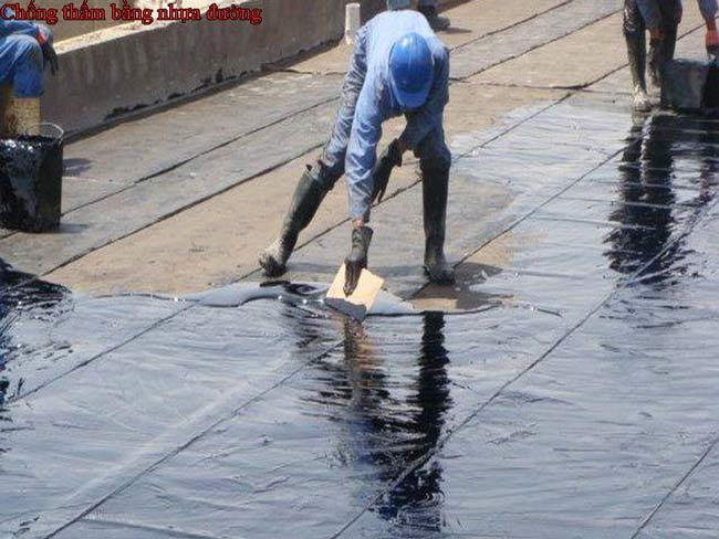 Chống thấm trần nhà bằng nhựa đường