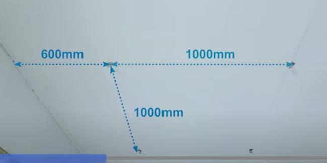 Chú ý tới khoảng cách tối đa giữa các điểm treo như trên