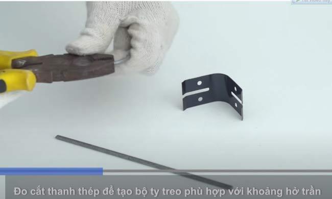 Đo cắt thanh thép tạo bộ ty treo