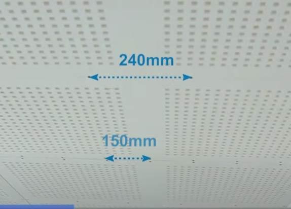 Khoảng cách vit 150mm ở các vị trí đầu tấm