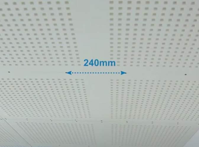 Khoảng cách vit 240mm ở các vị trí giữa tấm