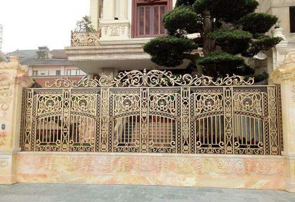 Mẫu hàng rào nhôm đúc đẹp, sang trọng